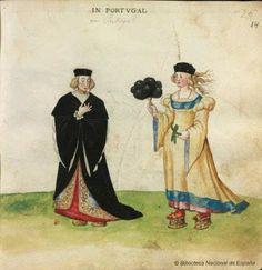 Portuguese Women. Codice Madrazo-Daza. 1631-1634.