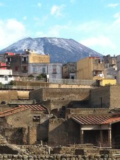 Snow on Mt. Vesuvius