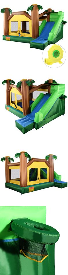 Inflatable Bouncers 145979: Inflatable Jungle Bounce House Jumper Bouncy Jump Castle W 680W Blower -> BUY IT NOW ONLY: $349.95 on eBay!