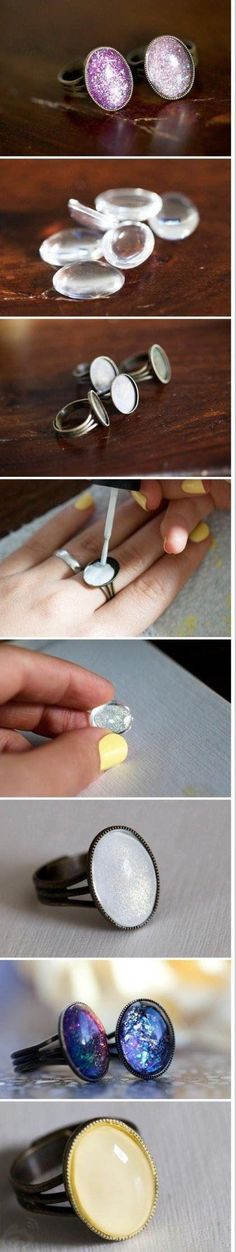 Cool and simple cabochon rings