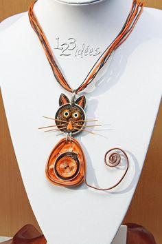 Gato nespresso cat. Colgante pendant.