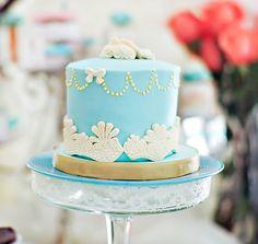 Tres Shabby Chic Baby Shower Cake - Bella Paris Designs