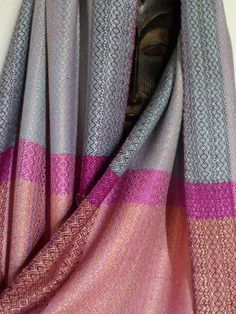 Handwoven Tussah and Mulberry Silk Wrap/Shawl Shimmery Silks