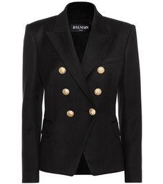 Buy it now. Embellished blazer. Black embellished blazer by Balmain , americana, americana, blazer, levita, levita, americanas, americanabásica, blezer, blazerdepunto, frock-coat. Black Balmain  blazer  for woman.