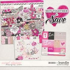 XOXO - Bundle - by Red Ivy Design. On sale at 37% off for the Bundle or 30% off for each pack for a very limited time only