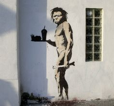 Banksy's New Fast Food Caveman