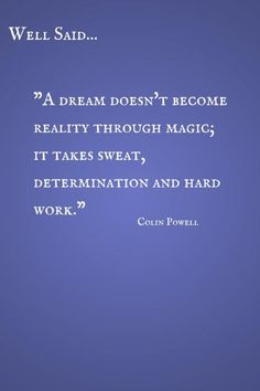 Well Said: Determination Quote by Colin Powell CereusArt