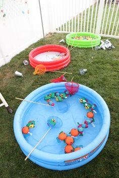 Fishing Pool from a Gone Fishing Birthday Party via Kara's Party Ideas | KarasPartyIdeas.com (51)