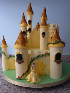 Belle and her castle by traceybestcakes (not enough hours in the day), via Flickr