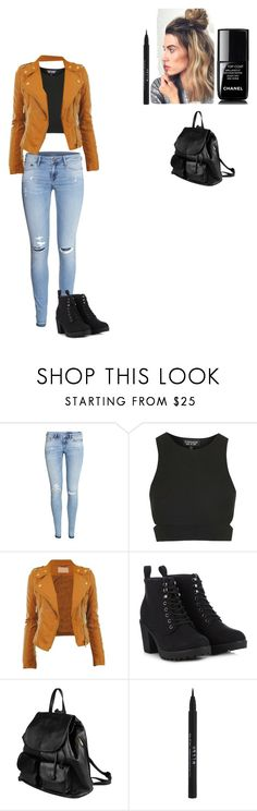 """""""Back to School- Fall Semester"""" by jillipepper ❤ liked on Polyvore featuring H&M, Topshop, CO, Call it SPRING, PARENTESI, Stila and Chanel"""