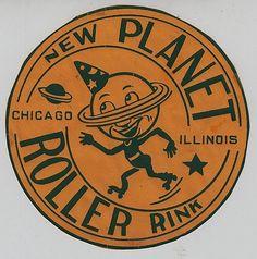 Designspiration — Logos / FFFFOUND!   New Planet Roller Rink - Chicago, Illinois on Flickr - Photo Sharin