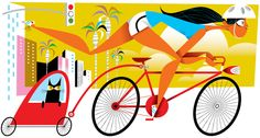 Cyclavia for Los Angeles Magazine by Kirsten Ulve, via Behance