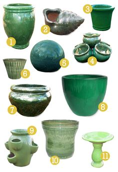 GREEN outdoor/garden decor and accessories for St. Patrick's Day!