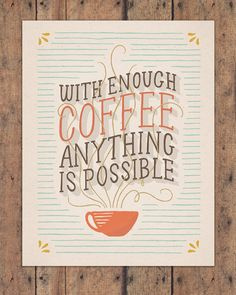 Coffee 11x14 Art Print