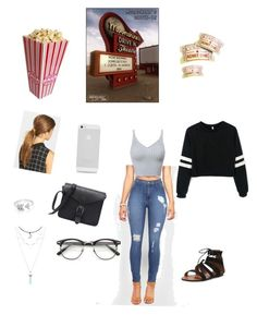 """My first contest "" by princesslanii on Polyvore featuring Ficcare, EF Collection, DateNight, drivein and summerdate"