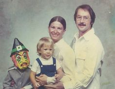 I would have loved to have heard the argument to wear the Halloween mask in the family photo!  :P