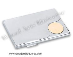 Win Free $100 eBay Gift Card  This is an elegant business card case with an awesome satin finish. It opens with a front hinge, and has an engraving gold plate for wonderfully professional personalizations as well