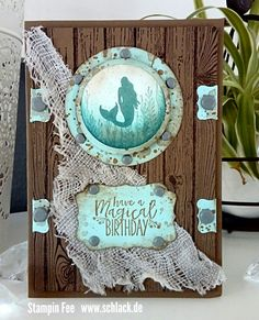stampin magical mermaid ship porthole Meerjungfrau Bullauge schiff inspired of crazypaperfreak melissa
