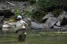 Fly fishing in Montana.