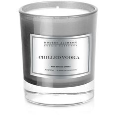 DL&Co L'Homme Collection Candle - Chilled Vodka ($60) ❤ liked on Polyvore featuring home, home decor, candles & candleholders, grey, grey home decor, grey candles, gray candles, scented candles and honey scented candles