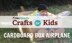 Let your kid take flight with this cool cardboard airplane. #pbscraftsforkids