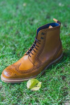Barker Butcher: Was £325.00 Now £227.50 (save 30%).  #barker #barkerbutcher #robinsonsshoes Goodyear Welt, Brogues, Robin, Calves, Combat Boots, Beige, Leather, Men, Beautiful