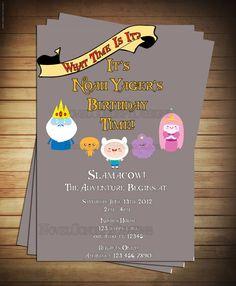 Adventure Time Birthday Party Invitation