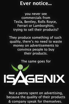 Isagenix...The Ferrari of the Nutritional Foods out there ! mvanness3@hotmail.com