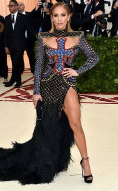 Jennifer Lopez Embraces the 2018 Met Gala Theme in the Most JLo This look is everything!