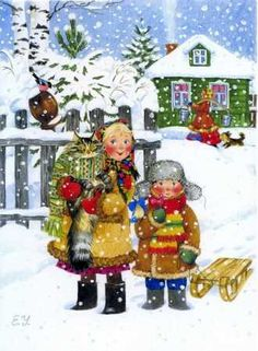 Малюнки Зима Develop Pictures, Christmas Ornaments, Holiday Decor, Painting, Character, Cards, Noel, Christmas Jewelry, Painting Art