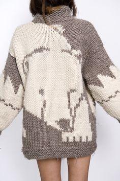 rerun The Polar Bear Sweater Cardigan | Vintage