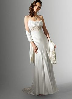 Niki White Long Destination Wedding Dress 16589 with Embroidery - I like the simplicity.