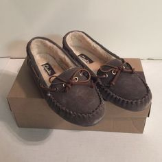 Brand new Clarks grey cow suede flats loafers Size 7M, new with box. $50+tax Clarks Shoes Flats & Loafers