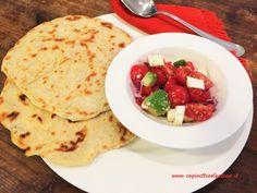 Tortillas bianche (senza lievito e senza strutto) con insalata di pomodori e feta | Cuginette sul gâteau