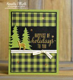 stampin up buffalo check card ideas Stampin Up Christmas 2018, Christmas Cards 2018, Stamped Christmas Cards, Noel Christmas, Christmas Greeting Cards, Holiday Cards, Christmas Paper, Holiday Ideas, Pumpkin Cards