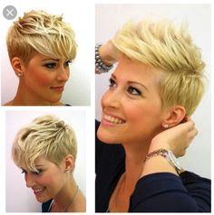 Super cute short layered pixie cut for fine hair - Thin Hair Cuts Pixie Haircut Fine Hair, Haircuts For Fine Hair, Short Pixie Haircuts, Layered Haircuts, Long Face Hairstyles, Pixie Hairstyles, Woman Hairstyles, Simple Hairstyles, Pelo Guay