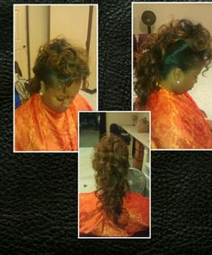 Full head sew in hawked out!!!!