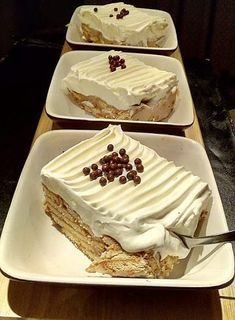 Greek Sweets, Greek Desserts, Greek Recipes, Cookbook Recipes, Cooking Recipes, Fridge Cake, Fudge Brownies, Sweet And Salty, Cakes And More