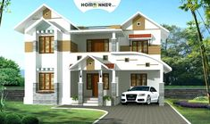 3 Bhk Traditional Kerala Home design in 2050 sq ft Best Small House Designs, Latest House Designs, Simple House Design, Modern House Design, Contemporary House Plans, Modern House Plans, Four Bedroom House Plans, Bungalow Floor Plans, Architecture Design