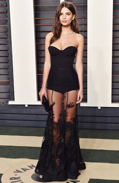 Emily Ratajkowski in a statementStephen Khalil dress.