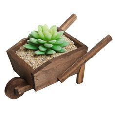 Amazon.com: Small Country Rustic Wheelbarrow Design Brown Wood Plant Flower Planter Pot Rack / Decorative Window Box: Patio, Lawn & Garden