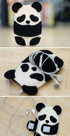 Imagen de panda, diy, and phone
