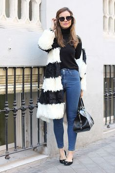 How to combine a faux fur?