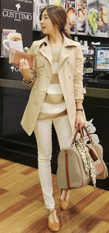 Can't go wrong with neutrals and a nice fitting trench coat.