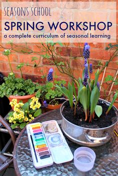 Online spring workshop: Spring curriculum plans for art based learning, spring activities, spring crafts, spring lesson plans, nature based homeschool curriculum