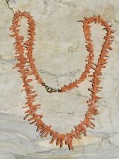 VINTAGE GENUINE UNDYED NATURAL PINK BRANCH CORAL NECKLACE