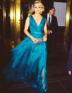 Not normally a blue fan, but I love this color!  And the dress.