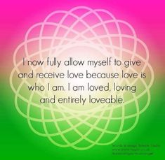 Heart chakra affirmation