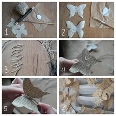 Shabby chic and I: DIY- Meine Papeterie Schmetterlinge