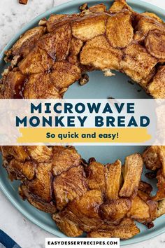 This easy to make Microwave Monkey Bread is sticky, doughy, and almost too good to be true! It takes under 20 minutes to whip up from start to finish, and it's so delicious that no one will ever believe it was cooked in the microwave. Easy Microwave Recipes, Easy Bread Recipes, Monkey Bread Recipe Microwave, Microwave Desserts, Breakfast Recipes, Dessert Recipes, Us Foods, Food Hacks, Easy Meals